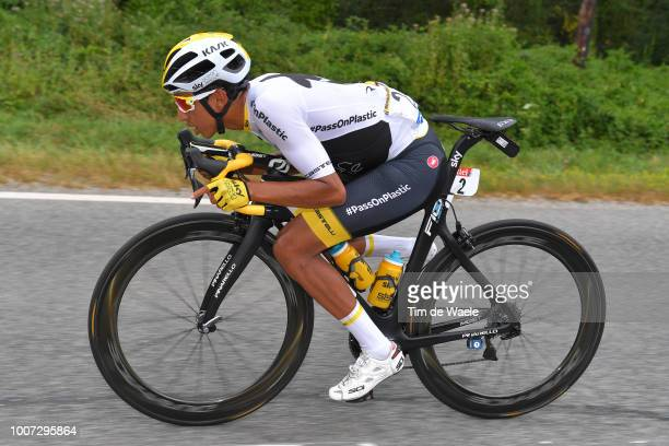 Egan Arley Bernal of Colombia and Team Sky / during the 105th Tour de France 2018 Stage 21 a 116km stage from Houilles to Paris ChampsElysees / TDF /...