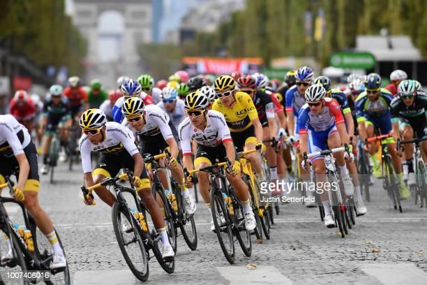 Egan Arley Bernal of Colombia and Team Sky / Luke Rowe of Great Britain and Team Sky / Michal Kwiatkowski of Poland and Team Sky / Geraint Thomas of...