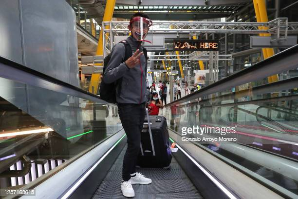 Egan Bernal of Colombia and Team INEOS arrives to Adolfo Suarez Madrid-Barajas Airport. Colombian athletes – including professional cyclists – arrive...