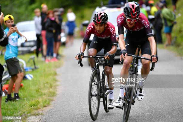 Egan Bernal of Colombia and Team Ineos / Pavel Sivakov of Russia and Team Ineos / during the 44th La Route d'Occitanie - La Depeche du Midi 2020,...