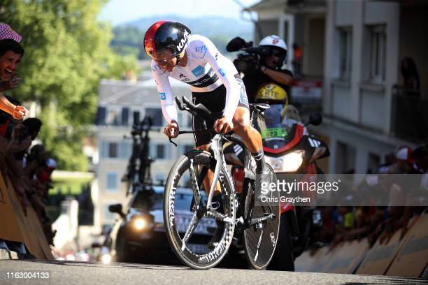 Egan Bernal of Colombia and Team INEOS White Best Young Jersey / during the 106th Tour de France 2019 - Stage 13 a 27,2km Individual Time Trial Stage...