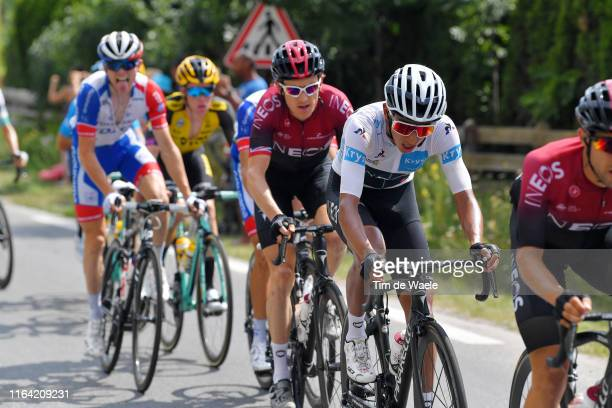 Egan Bernal of Colombia and Team INEOS White Best Young Jersey / Geraint Thomas of United Kingdom and Team INEOS / during the 106th Tour de France...