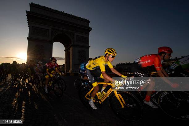 Egan Bernal of Colombia and Team INEOS Yellow Leader Jersey / Arc De Triomphe / Landscape / Peloton / during the 106th Tour de France 2019, Stage 21...