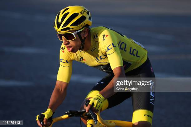 Egan Bernal of Colombia and Team INEOS Yellow Leader Jersey / during the 106th Tour de France 2019 Stage 21 a 128km stage from Rambouillet to Paris...