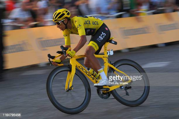 Egan Bernal of Colombia and Team INEOS Yellow Leader Jersey / during the 106th Tour de France 2019, Stage 21 a 128km stage from Rambouillet to Paris...