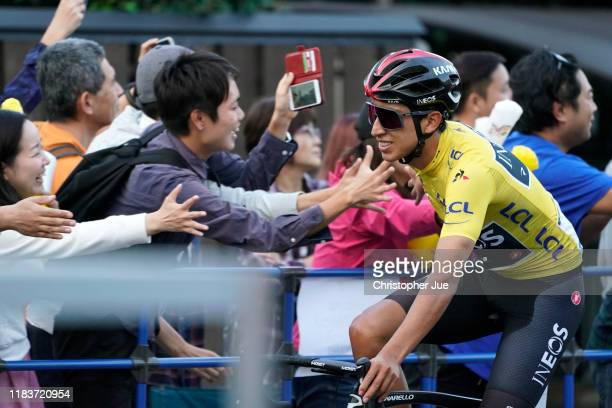 Egan Bernal of Colombia and Team INEOS Yellow Leader Jersey / Fans / Public / during the 7th Tour de France Saitama Criterium 2019 / @LeTour / on...
