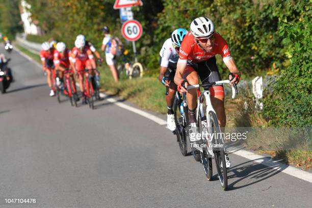 Egan Bernal of Colombia and Team Sky / Bauke Mollema of Netherlands and Team TrekSegafredo / during the 23rd Gran Premio Bruno Beghelli 2018 a 1963km...