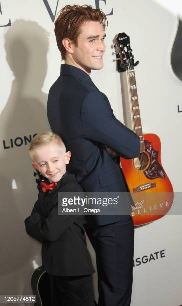 Egan Thomas Camp and KJ Apa arrive for the Premiere Of Lionsgate's I Still Believe held at ArcLight Hollywood on March 7 2020 in Hollywood California