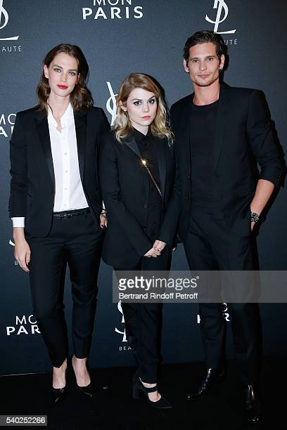 Egeria of YSL Beauty model Crista Cober ainger Beatrice Martin aka Coeur de Pirate and actor Jeremie Laheurte attend YSL Beauty launches the new...