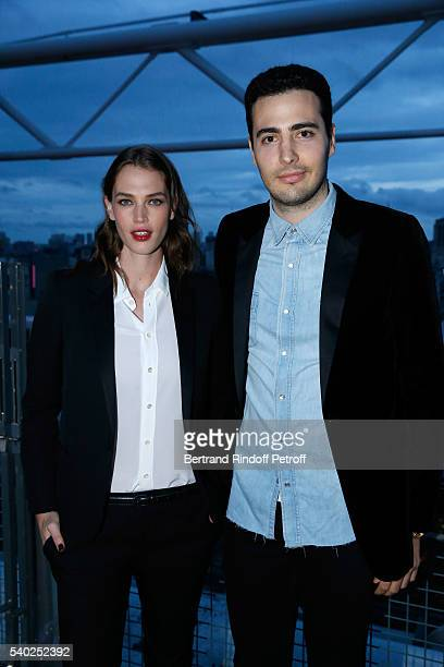 Egeria of YSL Beauty model Crista Cober and CoFounder of the 'Exemplaire Store' JeanVictor Meyers attend YSL Beauty launches the new Fragrance 'Mon...