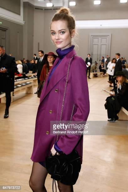 'Egerie de Nina Ricci' Frida Gustavsson attends the Nina Ricci show as part of the Paris Fashion Week Womenswear Fall/Winter 2017/2018 on March 4...