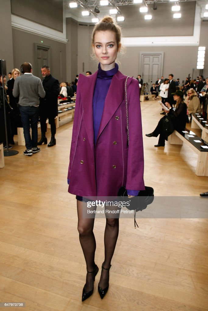 'Egerie de Nina Ricci' Frida Gustavsson attends the Nina Ricci show as part of the Paris Fashion Week Womenswear Fall/Winter 2017/2018 on March 4, 2017 in Paris, France.
