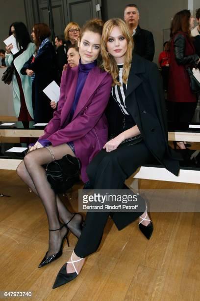 'Egeries de Nina Ricci' Frida Gustavsson and Jac Jagaciak attend the Nina Ricci show as part of the Paris Fashion Week Womenswear Fall/Winter...