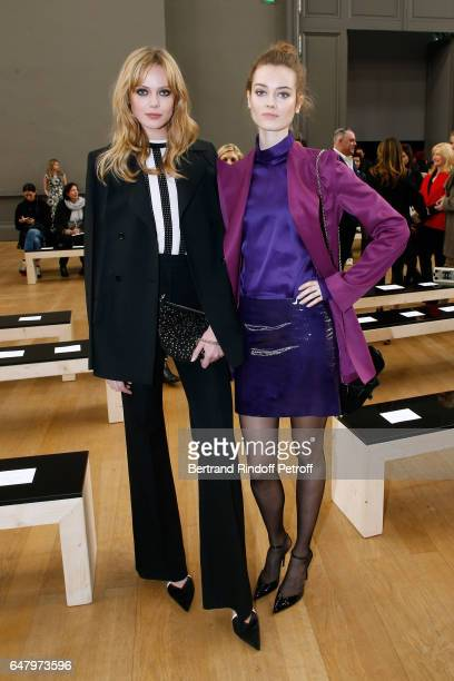 'Egeries de Nina Ricci' Jac Jagaciak and Frida Gustavsson attend the Nina Ricci show as part of the Paris Fashion Week Womenswear Fall/Winter...