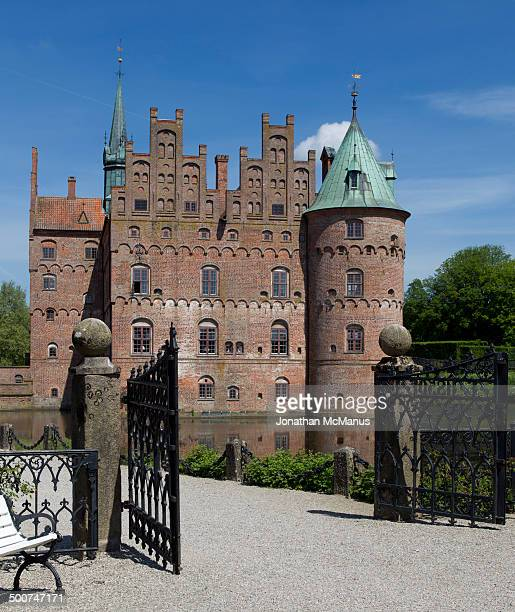 Egeskov castle was built in 1554. It was restored under the supervision of the Swedish architect Helgo Zetterwall in the late nineteenth century.