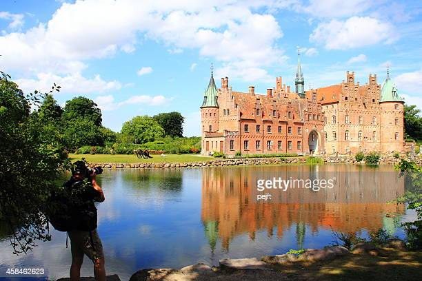egeskov slot castle - pejft stock pictures, royalty-free photos & images