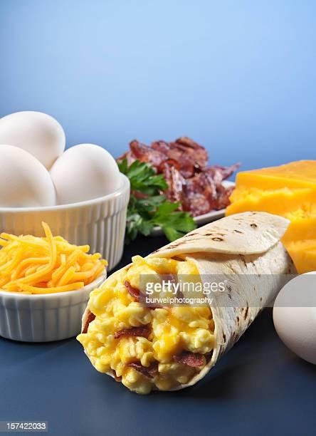 Bacon, aux œufs et Burrito de petit déjeuner