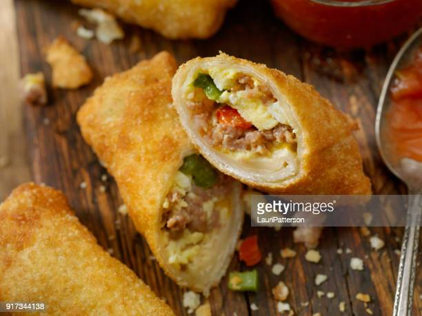 Egg and Sausage Breakfast Egg Roll