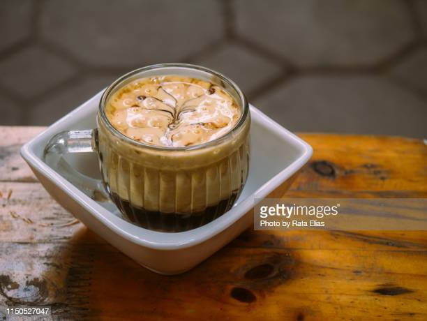 egg coffee - vietnamese culture stock pictures, royalty-free photos & images