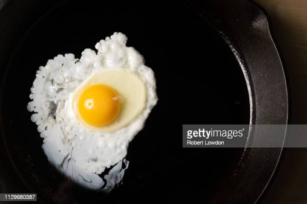 Egg Cooks In Skillet