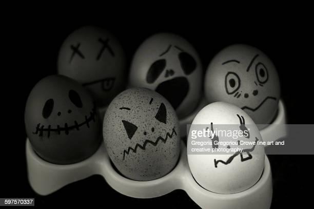 egg heads - gregoria gregoriou crowe fine art and creative photography. stock-fotos und bilder