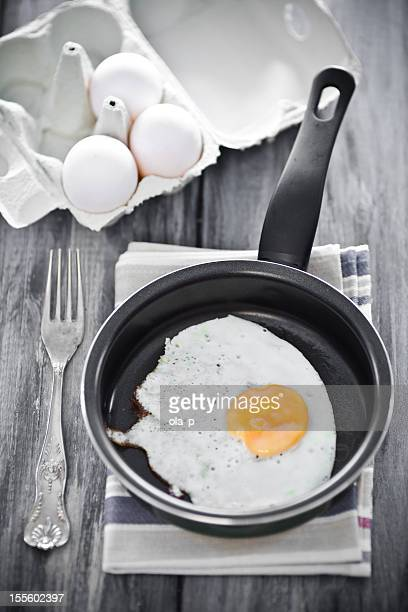 Ei in einem frying pan