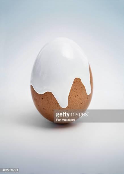 egg makeover - ei bruin stockfoto's en -beelden