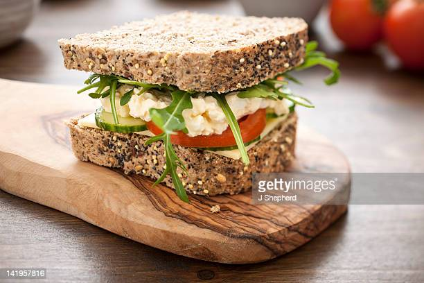 egg mayonnaise salad sandwich - mayonnaise stock pictures, royalty-free photos & images