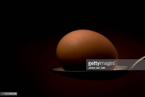 Egg on a silver spoon