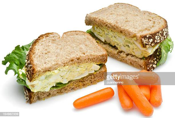 Egg salad sandwich lunch