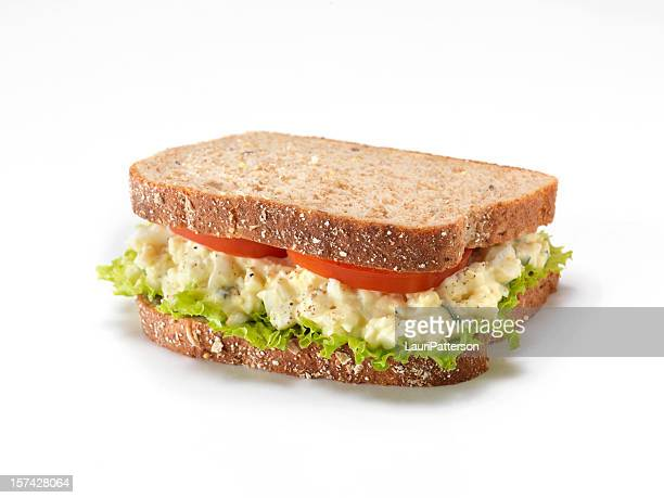 egg salad sandwich - mayonnaise stock photos and pictures