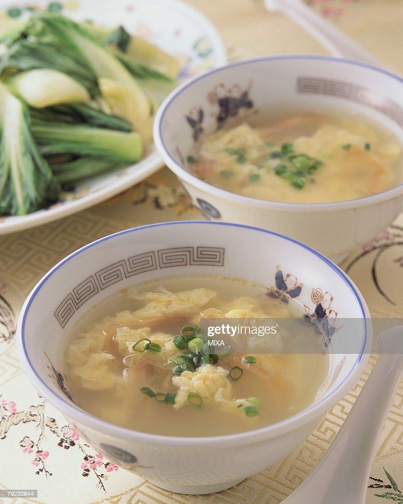 Egg Soup : Stock Photo