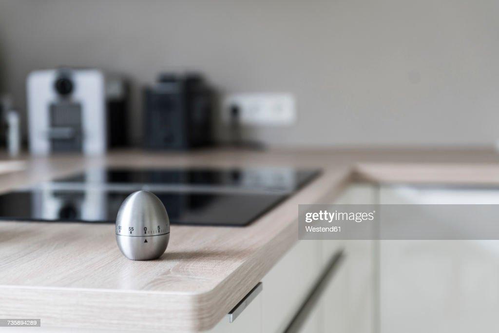Egg timer in modern kitchen : Stock Photo