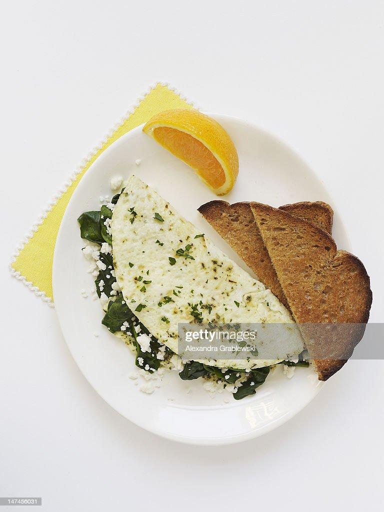 Egg White Omelette : Stock Photo