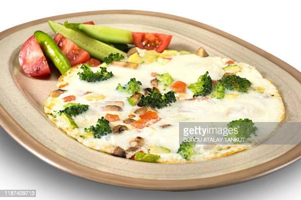 egg white omelette with vegetables - 卵白 ストックフォトと画像