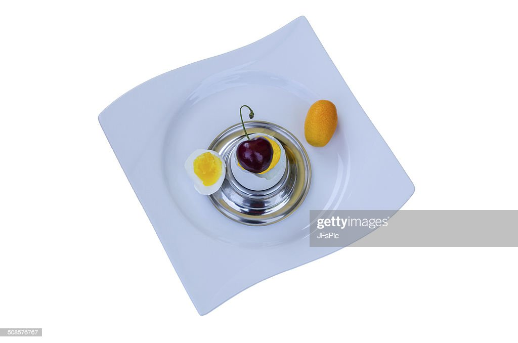 Egg with surprise : Stockfoto