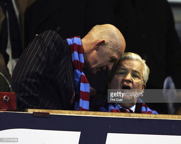 Eggert Magnusson West chairman and Bjorgolfur Gudmundssom during the Barclays Premiership match between West Ham United and Wigan at Upton Park on...
