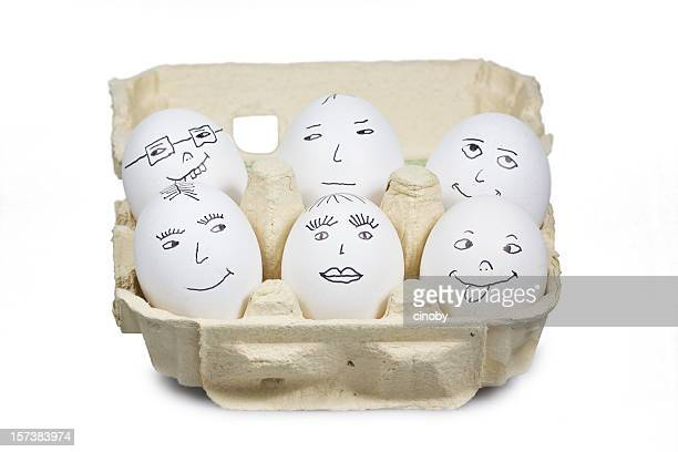 egghead meeting - funny cartoon stock photos and pictures
