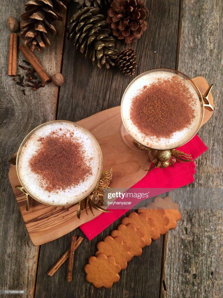 Eggnog at Christmas Time : Stock Photo