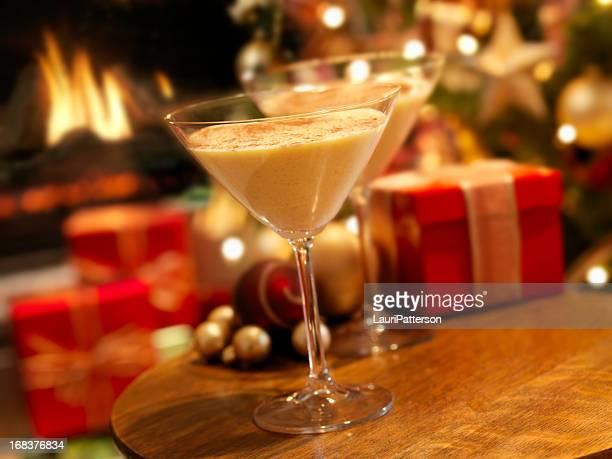 Eggnog Martini at Christmas Time