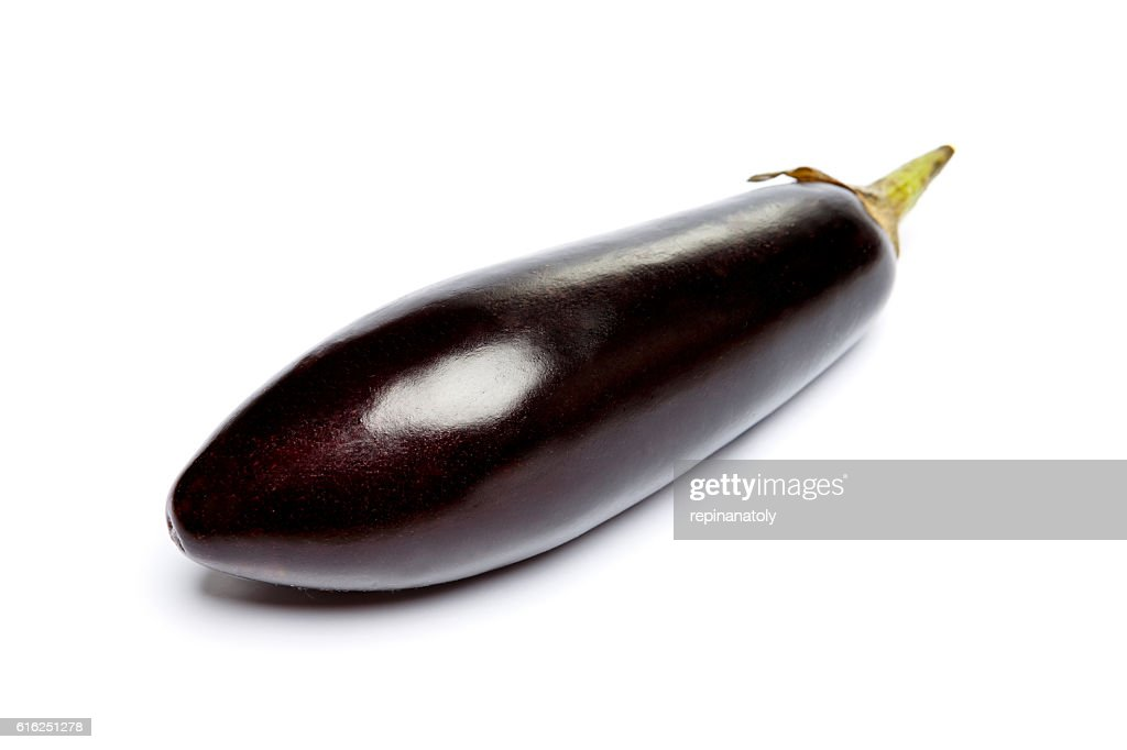 Eggplant Isolated on a white background : Stock Photo