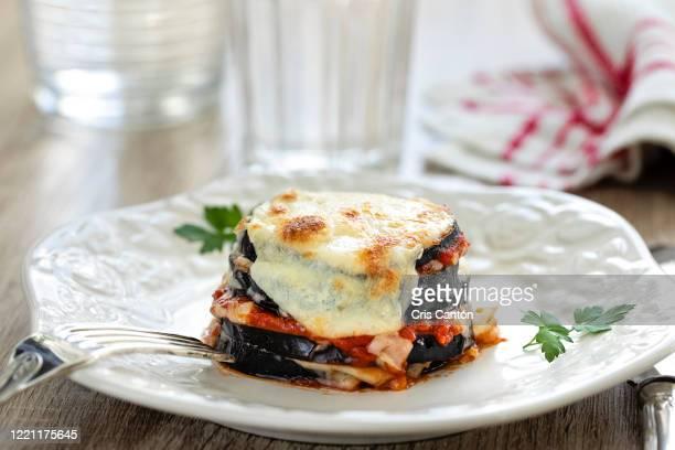 eggplant parmesan - eggplant stock pictures, royalty-free photos & images