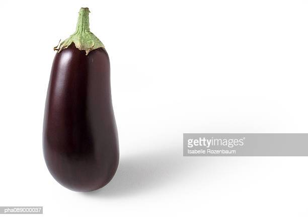 Eggplant standing on end, close-up