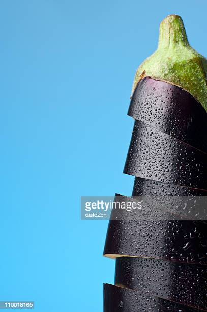eggplant still life - vegetais - fotografias e filmes do acervo