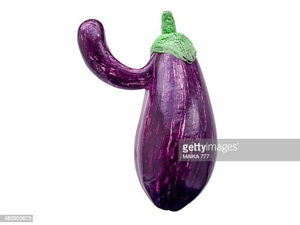 Eggplant with a mutation that resembles a big nose