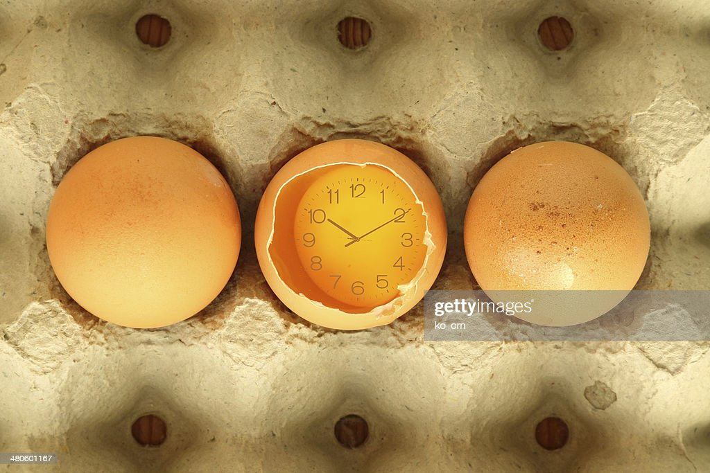 Eggs food time. : Stock Photo