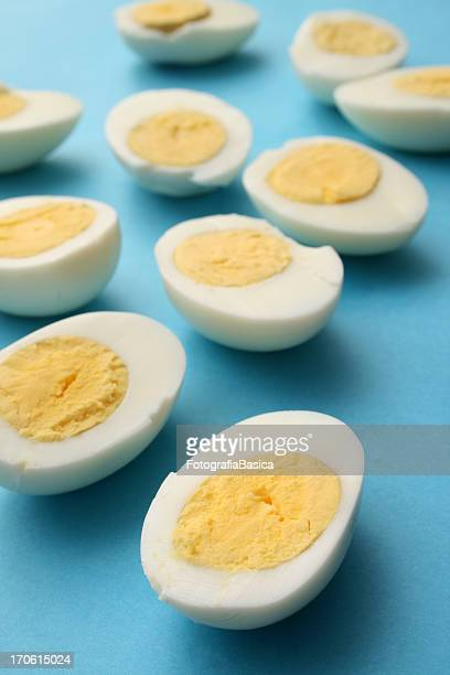 eggs halves - boiled stock pictures, royalty-free photos & images