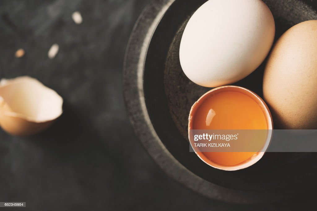 Eggs in a bowl : Stock Photo