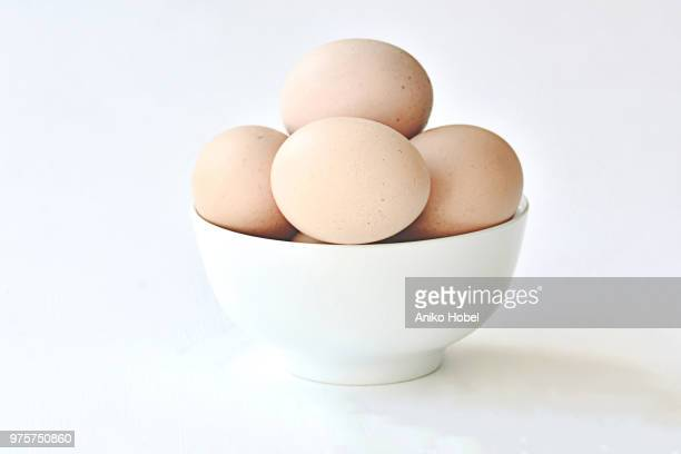 eggs in a bowl - animal egg stock pictures, royalty-free photos & images