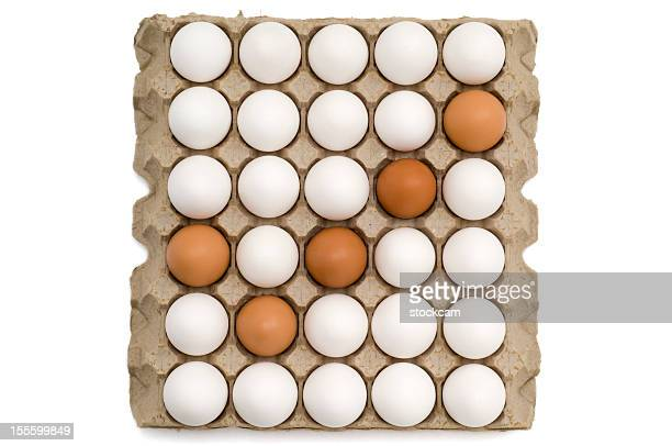 Eggs in a carton making the 'check' mark